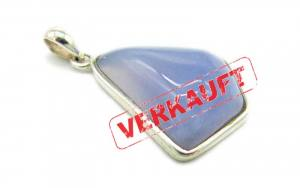 Chalcedon Hellblau Cabochon Anhä...
